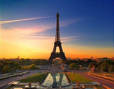 Quadro Decorativo Poster Paris em Canvas