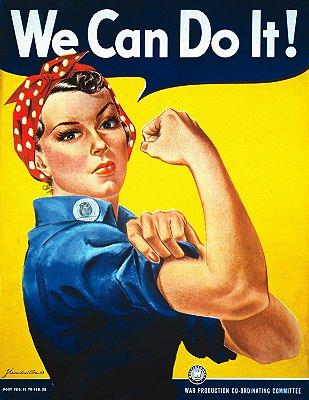 Quadro Decorativo Poster We Can Do It