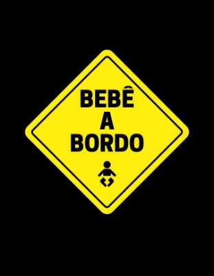 Quadro Decorativo Poster Bebê a Bordo