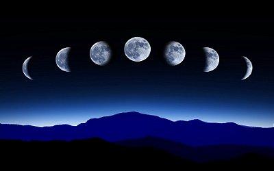 Quadro Decorativo Poster Fases da Lua