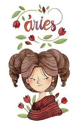 Quadro Decorativo Poster Signos Aries