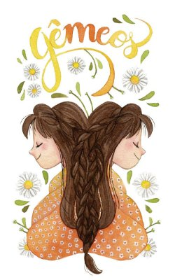 Quadro Decorativo Poster Signos Gêmeos