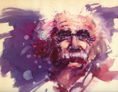 Quadro Decorativo Poster Albert Einstein