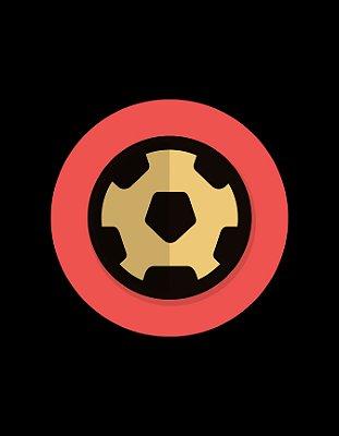 Quadro Decorativo Poster Bola de Futebol