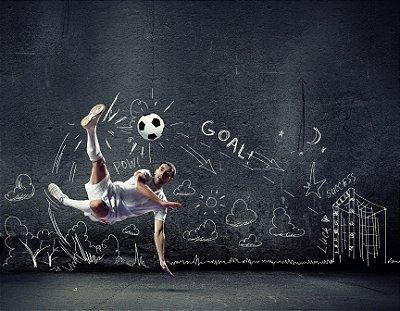 Quadro Decorativo Poster Técnica de Futebol