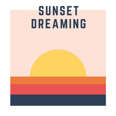 Quadro Decorativo Poster Sunset