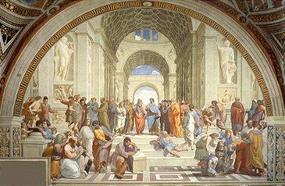 Quadro Decorativo Poster A Escola de Atenas