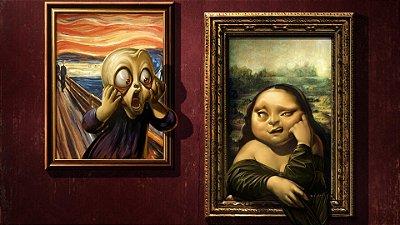 Quadro Decorativo Poster O Grito x Mona Lisa