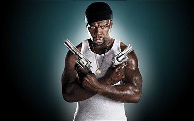 Quadro Decorativo Poster 50 Cent Gun