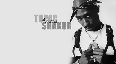 Quadro Decorativo Poster Tupac Shakur Nome