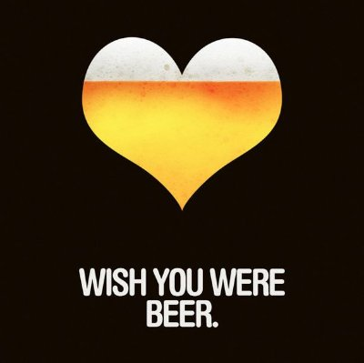 Quadro Decorativo Poster Wish You Were Beer
