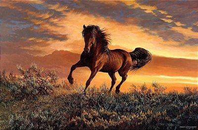 Quadro Decorativo Poster Pintura de Cavalo