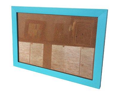 Moldura para Certificado Azul Claro com Vidro