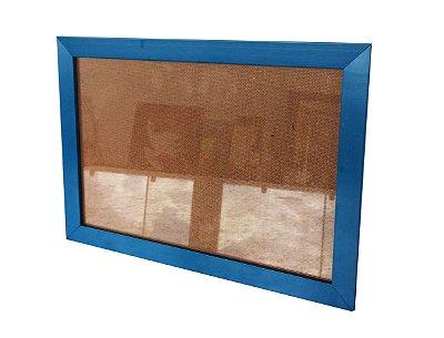 Moldura para Certificado Azul com Vidro