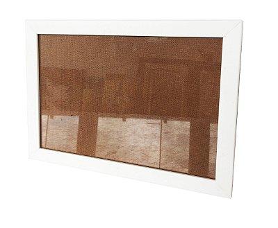 Moldura para Certificado Branca com Vidro