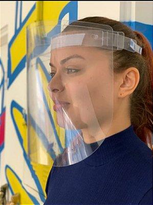 Viseira De Proteção Facial Transparente Lavável e Reutilizável Unissex - D'poan - 8VZ4T8TVD