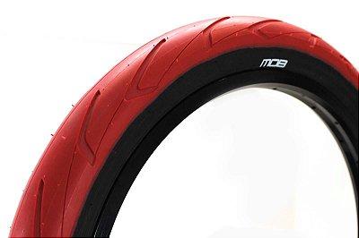 Pneu Mob STR Bmx 20 x 2.40 Kevlar Vermelho C/ Faixa Preta