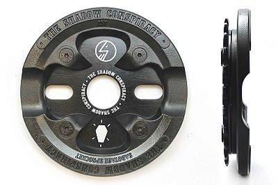Coroa Shadow Sabotage Bmx 25 Dentes Bash Guard Nylon Preta