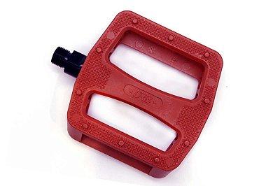 Pedal Bmx DRB Star Nylon 9/16 Vermelho