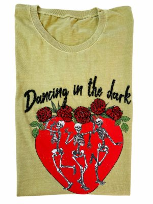 TSHIRT 100% ALGODÃO VERDE DANCING IN THE DARK