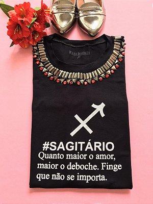 Tshirt Preta Signo Sagitário