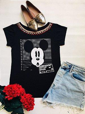 Tshirt Preta Mickey Procurado