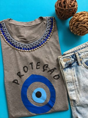 Tshirt Cinza Proteção PROMOÇÃO DO DIA