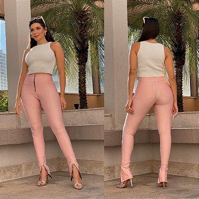 Calça Skinny Carola - A Mais Vendida - Malha Prada Legítima - Zíper no Cós - Zíper Frontal na Barra - Barra Ajustável - Bolso Traseiro - Várias Cores