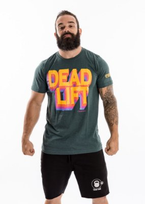 T-SHIRT MASCULINA - DEADLIFT- VERDE