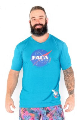T-Shirt Casal Wod - MENSAGEIRO COACH - Azul