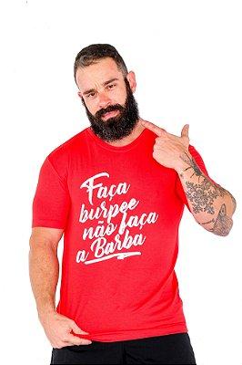 T-shirt Casal Wod - NÃO FAÇA BARBA (Vermelha)