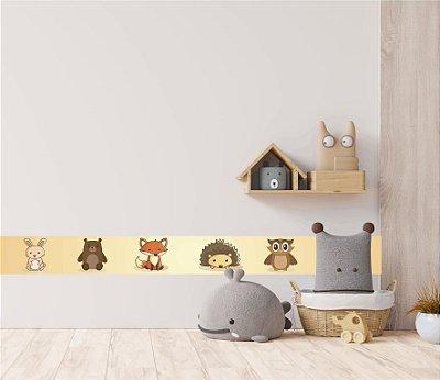 Adesivo faixa de parede Animais da Floresta