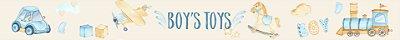 Adesivo faixa de parede Boy's Toys Aquarela