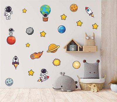 Kit Adesivos Astronautas com 25 peças