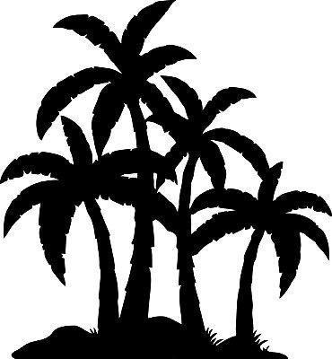 Adesivo de Parede Floral Árvore Palmeira 02
