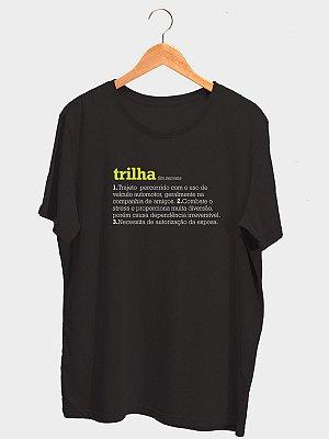 Camiseta Trilha Dicionário Preta