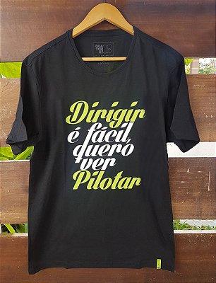 Camiseta Dirigir é Fácil Preta