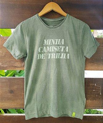 Camiseta Infantil Minha Camiseta de Trilha Estonada Verde