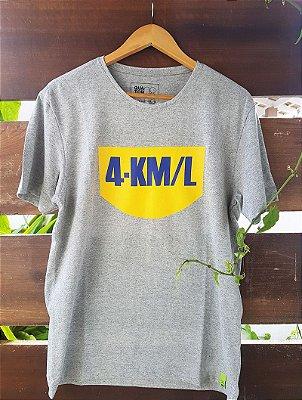 Camiseta 4 km/l Cinza Mescla