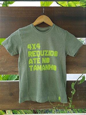 Camiseta Infantil 4x4 Reduzido Estonada Verde