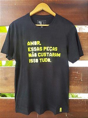 Camiseta Preço das peças Preta