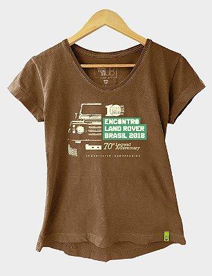 Camiseta Feminina Encontro Amigos Land Rover 2018 (PRODUTO OFICIAL)