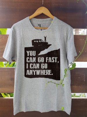 Camiseta Go Fast Cinza Mescla