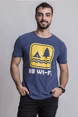 Camiseta No Wi-fi Azul Marinho