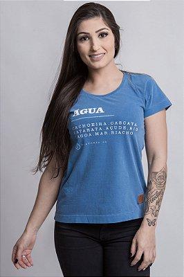 Camiseta Feminina Água Azul