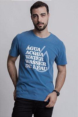 Camiseta Água Azul