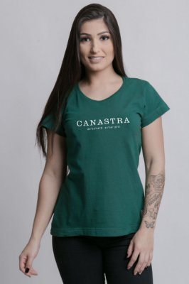 Camiseta Feminina Destinos Canastra Verde