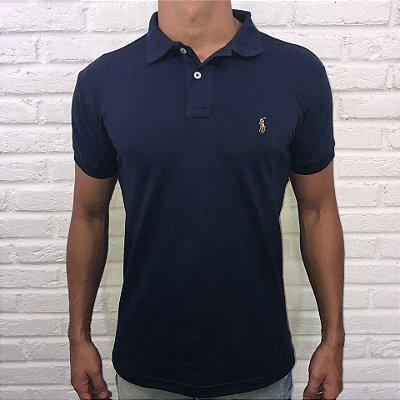638f9bd2b61bb Camisa Polo Masculina Ralph Lauren Marinho