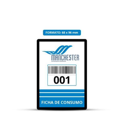 Comanda de Consumo Personalizável PVC 68 x 96 mm