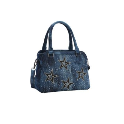 Bolsa Chic Chenson Jeans Star Azul 8682538